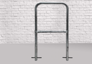 Ground Sunk Bike Stand - Security Bar