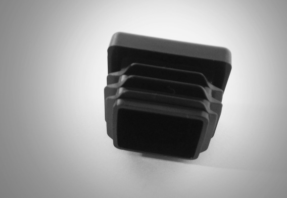 End Caps Black Nylon To Fit 20mm 25mm Square Box Section