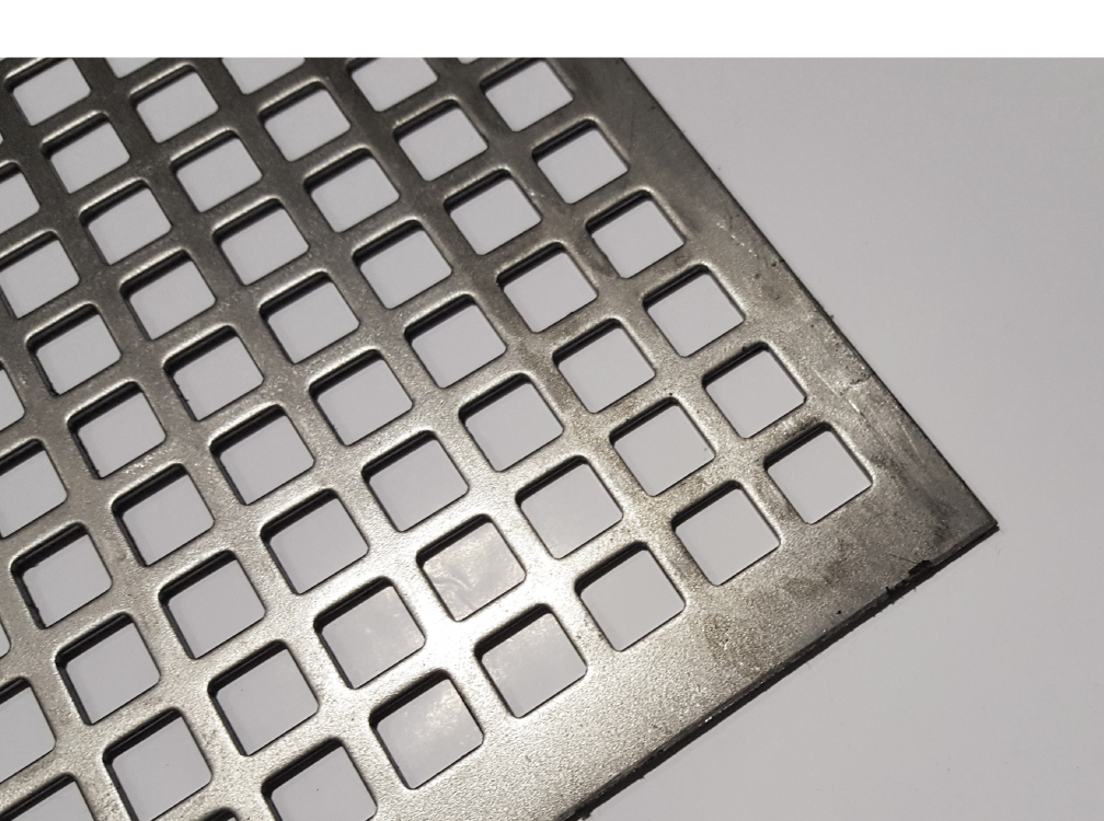 Square Pitch Perforated Sheet Mild Steel Perf 9 5mm