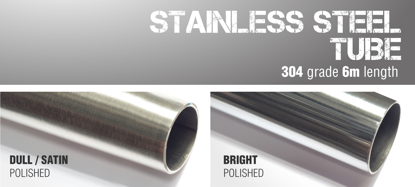 6m lengths 304 Grade Stainless Steel Tube