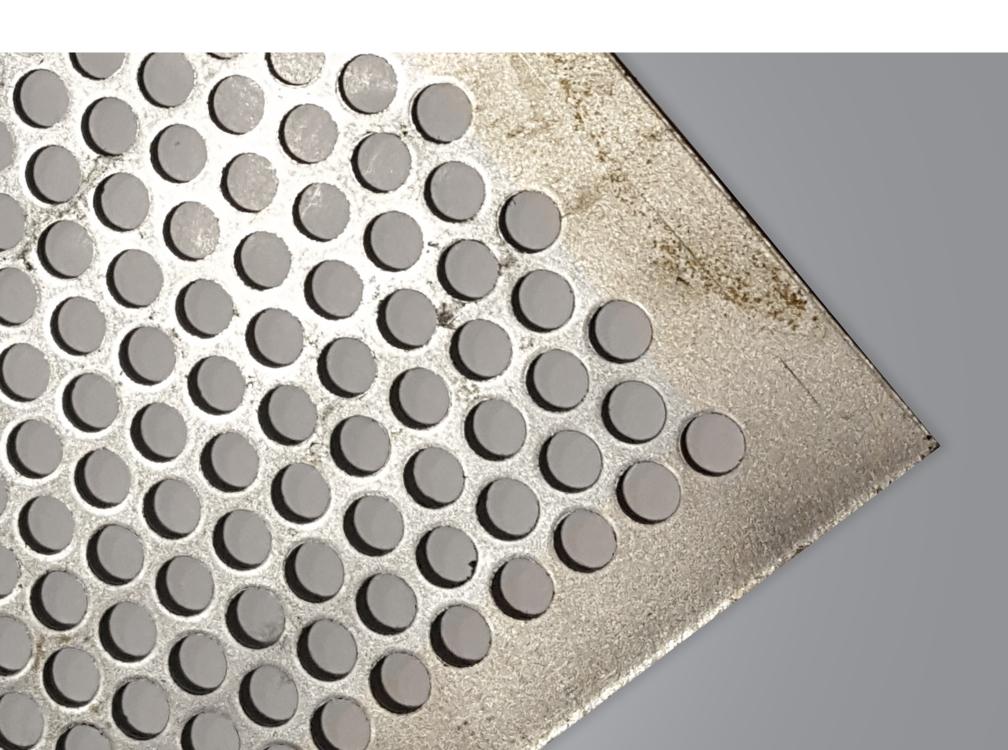 Round Hole Perforated Sheet Mild Steel Galvanised