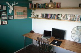 Tube clamp desk and shelving