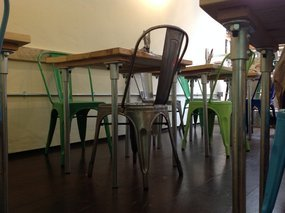 Galvanised tube and tube clamp cafe furniture
