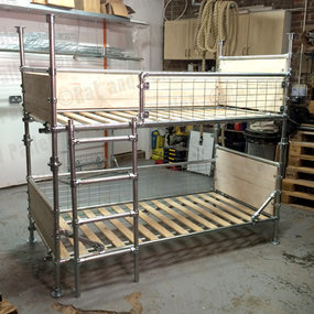 Tube clamp and wood bunk bed