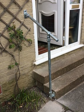 Handrail for home steps