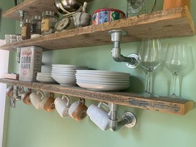 Rustic style shelving