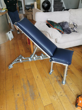 Tube & clamp workout bench