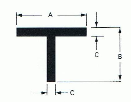 Buy Mild Steel T Section T Bar Sizes 25 X 25 X 3mm 50 X 50 X 6mm